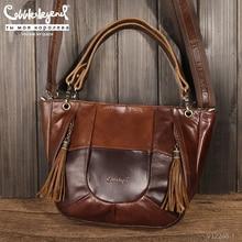 Cobbler legend senhoras bolsa feminina de couro genuíno saco grande vintage ombro/crossbody sacos do mensageiro feminino grande tote