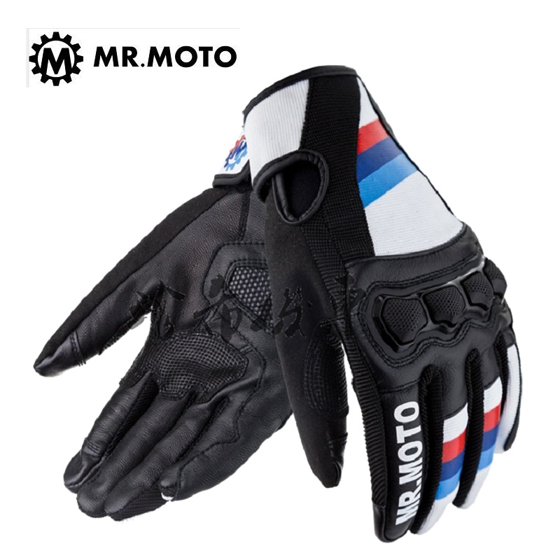 2019 Summer New man women MR.MOTO Air series motorcycle glove Motorbike gloves Breathable shatter-resistant can Touch screen