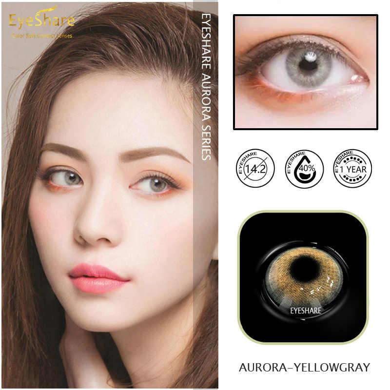 EYESHARE 1 para (2 sztuk) naturalny kryształ soczewki kolorowe dla oczu kosmetyczne soczewki kontaktowe kolor oczu