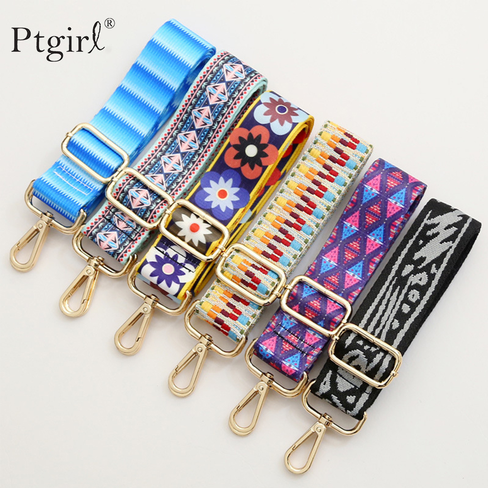 Rainbow Adjustable Bag Straps Nylon Colored Belt Bag Strap Hanger Handbag Accessories For Women PtgirlDecorative Handle Ornament