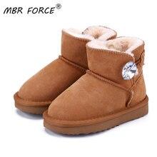 Mbr force/Классические однотонные детские зимние ботинки высокого