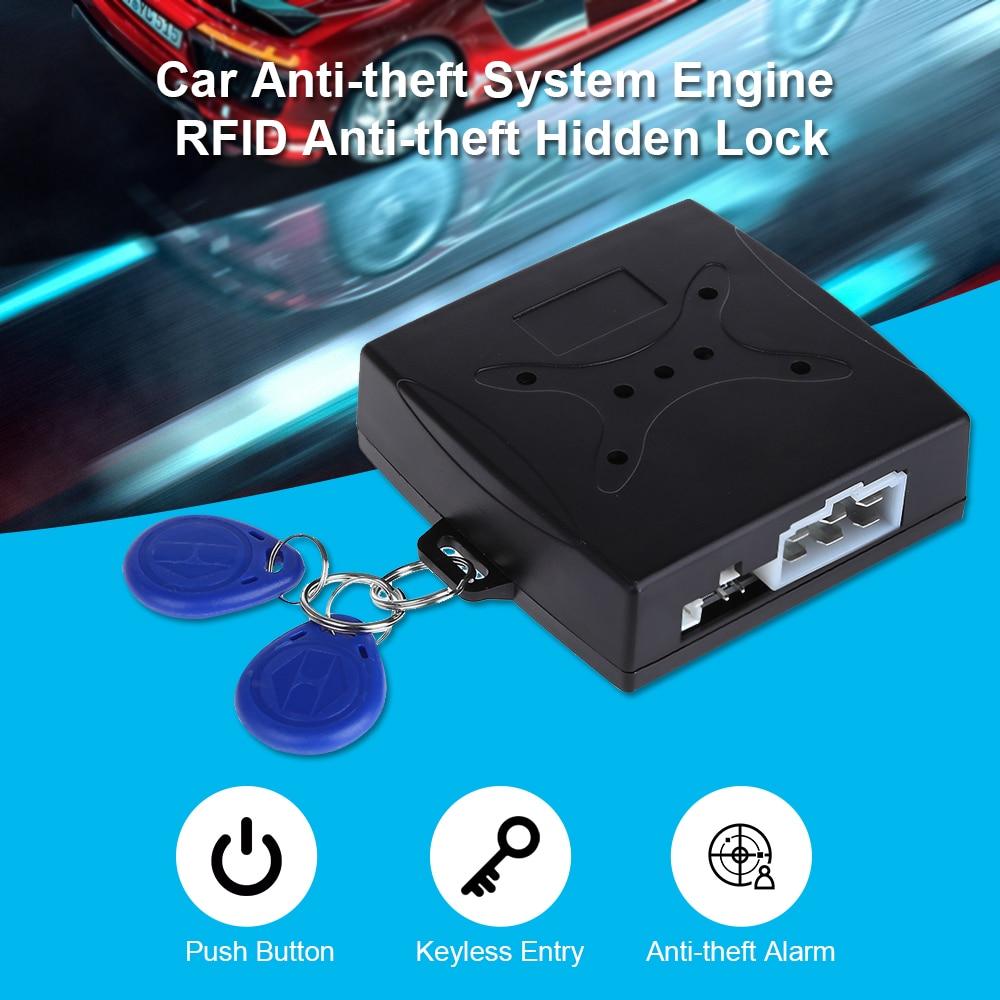 Drop Shipping Car Push Start Button RFID Alarm Lock Ignition Starter Keyless TPMS Entry Start Stop Immobilizer Smart Engine