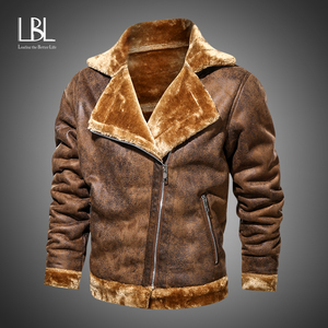 Brand Mens Retro PU Jackets 2020 Men Slim Fit Motorcycle Leather Jacket Fashion Outwear Male Warm Bomber Military Outdoor Coats