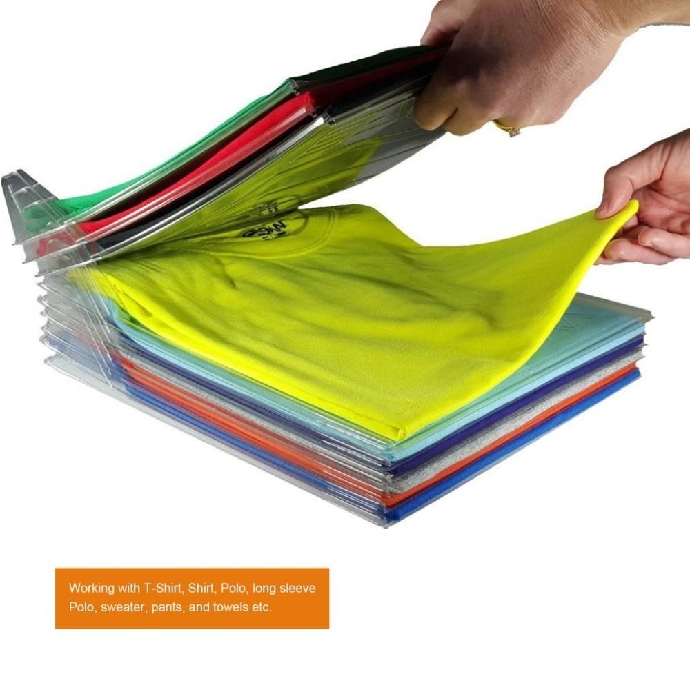 10pcs T shirt clothes organizer Closet Storage Travel clothes Organization System TShirt Folding Board Home Essentials Organizer