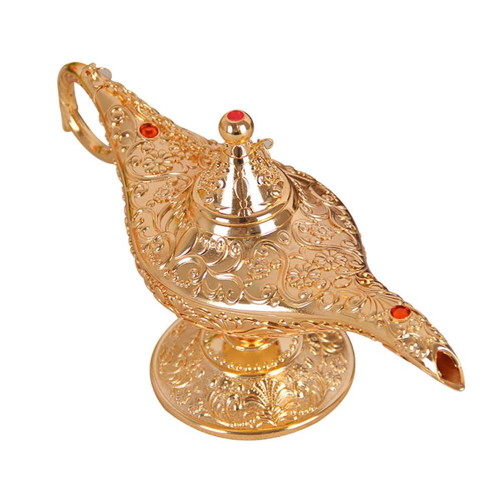 Tradizionale Aladdin Lampada Fata Racconto Lampada Magica Che Desiderano Olio di Tè Pentola di Metallo Vintage Retro Giocattolo Regalo di Arte Ornamenti Mestieri Della Decorazione Della Decorazione