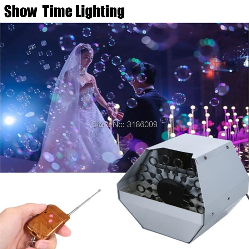 Good Effect Romantic Wedding Maker Mini Disco Bubble Machine Make Bubble Fly Use Well For Wedding Party KTV Night DJ Club
