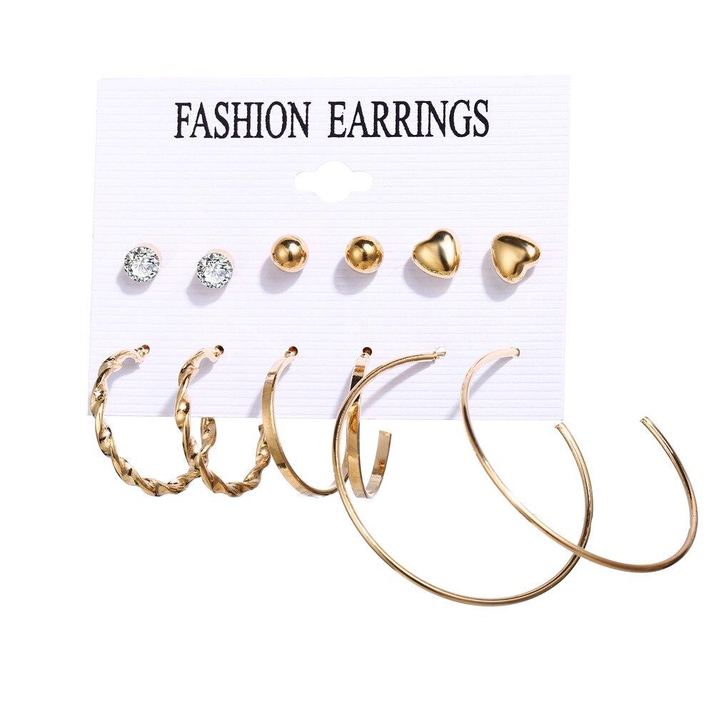 17 км акриловые серьги с кисточками для женщин, богемные серьги, набор больших геометрических висячих сережек Brincos, Женские Ювелирные изделия DIY - Окраска металла: Daliy earrings set