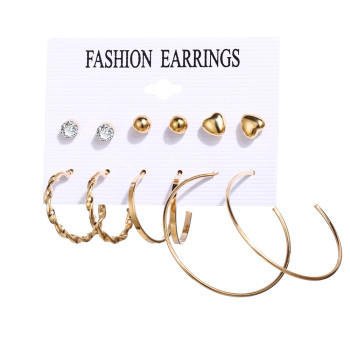 Women Bohemian Earrings Set Big Earrings Jewelry Women Jewelry Metal Color: Daliy earrings set