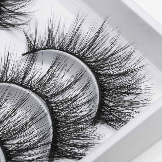 8/10 Pairs Eyelashs Natural long 3D Faux Mink Eyelashes Thick HandMade Full Strip Lashes Volume Soft Mink Lashes False Eyelashes 5