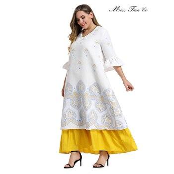 2021 Abaya longue printemps femmes robes papillon grande grande taille mode élégant couture ourlet Jacquard Maxi robe de soirée 1