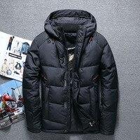 Nice High Quality Men Fashion 91% White Duck Down Jacket Winter Casual Down Coats Jackets Parkas Men Sportswear Clothing
