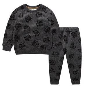 Image 3 - Salto metri Vestiti Per Bambino Set Autunno Inverno Ragazzo Set Vestiti di Sport Per I Ragazzi della Camicia del Maglione Pantaloni 2 Pezzi Set di Bambini