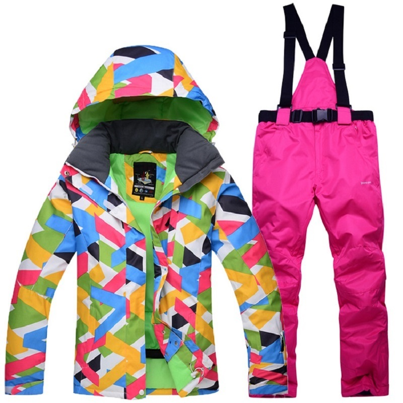Snowboarding Sets Winter Women Ski Suit Outdoor Sports Warm Windproof Waterproof Breathable Female Snow Skiing Jacket and Pants