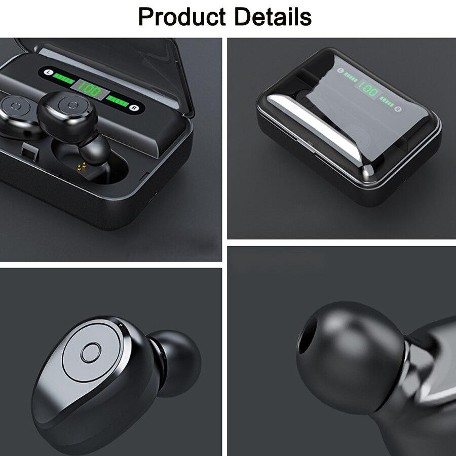 TWS Wireless Earphone Bluetooth 5.0 Earphones Noise Canceling Stereo Earbuds Wireless Bluetooth Headset For Phones