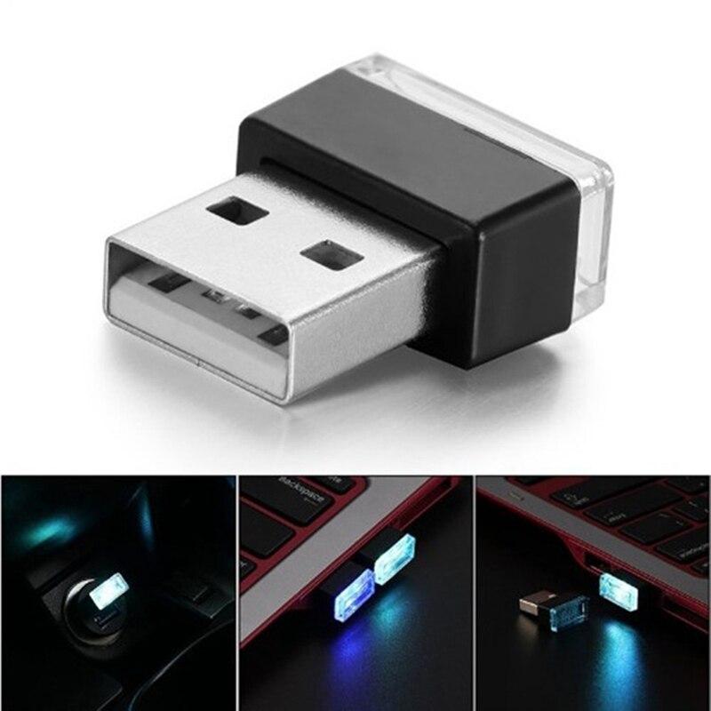 2 шт./лот, автомобильный интерьерный светильник, неоновая атмосферная лампа, мини USB светильник светодиодный модельный автомобильный
