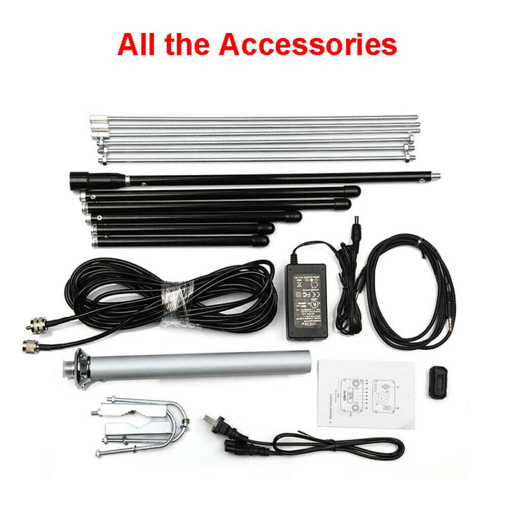 2 Unit 1//4 wave professional antenna and 2 Unit 7W transmitter no power cord