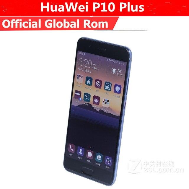 "Original HuaWei P10 Plus 4G LTE Mobile Phone Kirin 960 Android 7.0 5.5"" 2K 2560x1440 6GB RAM 256GB ROM 20.0MP Fingerprint NFC"