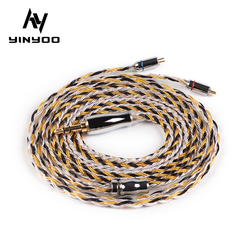 Yinyoo 16 Core Upgraded Silver Plated Copper <font><b>Cable</b></font> 2.5/3.5/4.4MM With MMCX/2pin/QDC TFZ Connector For <font><b>KZ</b></font> <font><b>ZS10</b></font> ZSN Pro AS16 ZSX image
