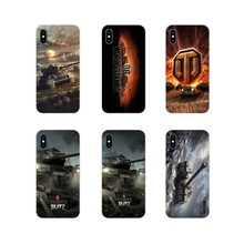 World of tanks Acessórios Phone Cases Capas Para iPhone Da Apple X XR XS 11Pro MAX 4S 5S 5C SE 6S 7 8 Plus ipod touch 5 6(China)