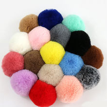 Big Size 10Cm Large Fluffy Fur Pom Poms Pompoms Ball Soft Natural Fur Pompon for Hat Scarves Handmade DIY Sewing Craft Supplies(China)