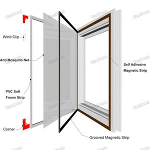 Image 3 - Adjustable DIY Magnetic Window Screen windows for Motorhomes Removable Washable Invisible Fly Mosquito Screen Net Mesh Customize