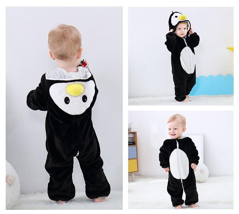 Haab57822c7c842efaa66e3d56c65d532S Cute Cartoon Flannel Baby Rompers Novelty Rabbit Cotton Baby Boys Girls Animal Rompers Stitch Baby's Sets kigurumi New born 2019