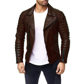 Motorcycle Leather Jacket Men, Men Leather Jacket Jaqueta De Couro Masculina,Mens Leather Jackets Coats, Fashion