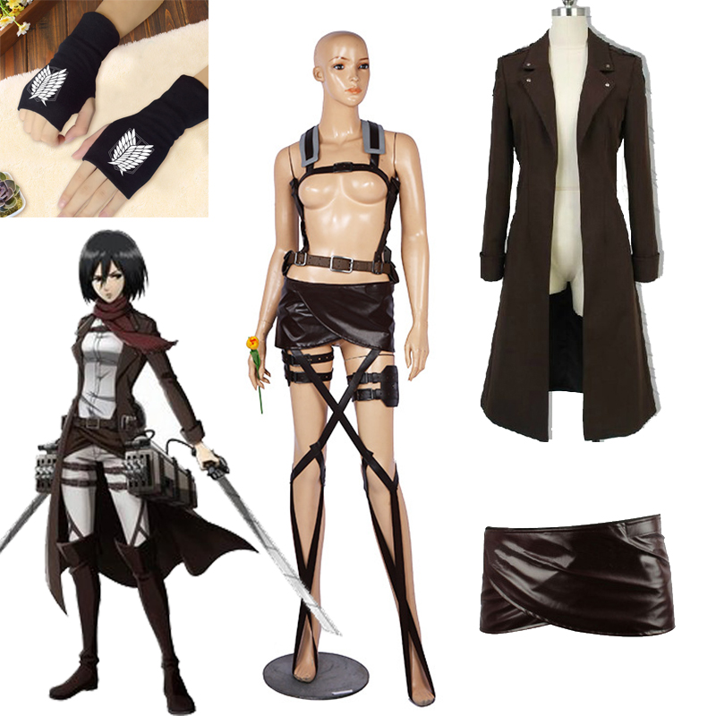 Attack On Titan: Wings Of Counterattack Levi Cosplay Trench Coat Uniform Anime Shingeki No Kyojin Long Jacket Halloween Cos Belt