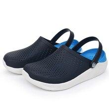 Женская и мужская летняя водонепроницаемая обувь; светильник; дышащие повседневные шлепанцы; обувь для плавания и прогулок; пляжные спортивные Нескользящие Вьетнамки; мягкие сандалии