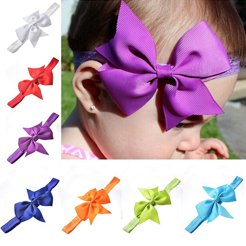 20pcs Girl Baby Toddler Bow Headband Hair Band Accessories Headwear For Infants