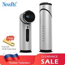Mini proyector Newpal portátil de 90 grados lente giratoria DLP proyectores pequeño WiFi Bluetooth Home Theator Android proyector