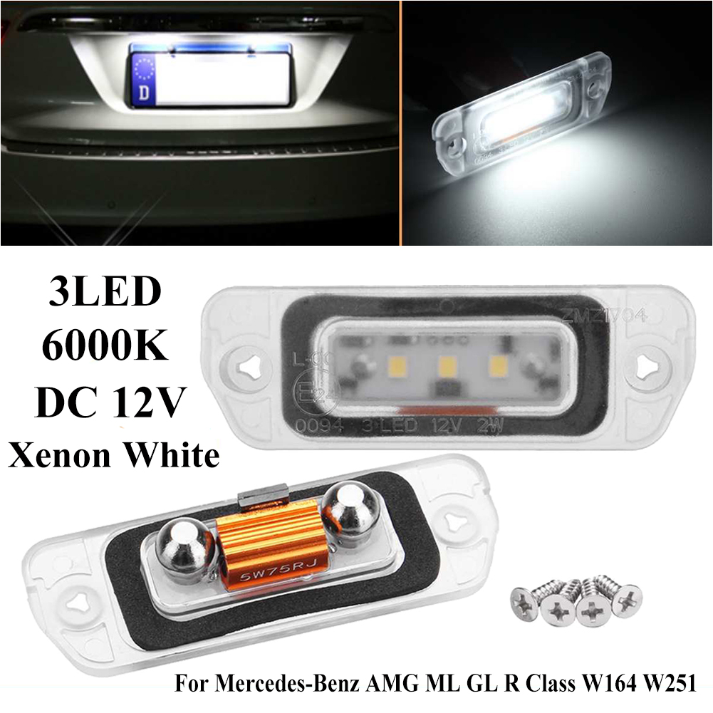 3 SMD LED C5W CANBUS XENON WHITE NUMBER PLATE LIGHT BULB MERCEDES-BENZ R-CLASS