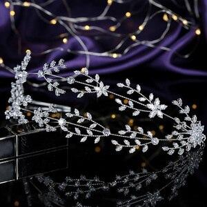 Image 4 - Tiaras ve taç HADIYANA muhteşem mizaç gelin düğün saç takı kadın parti başlık zirkonya BC4891 Corona Princesa