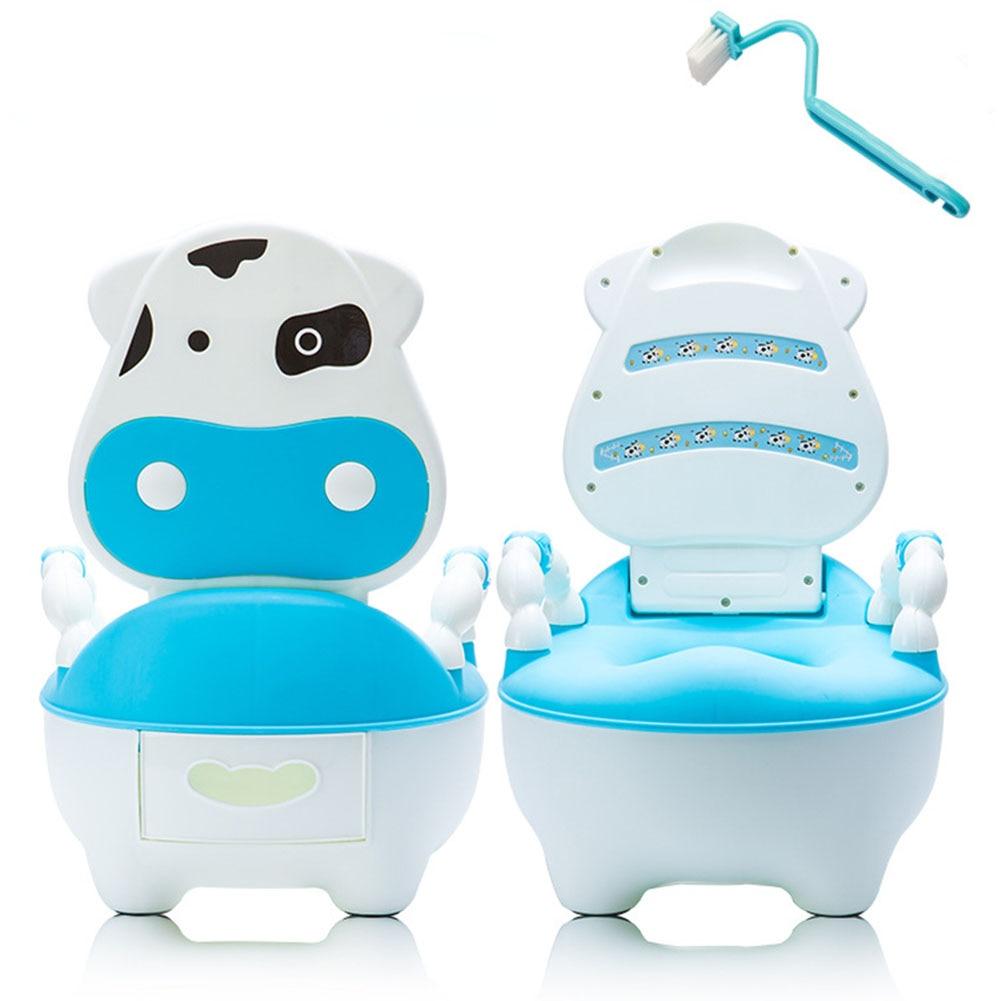 Seat Cartoon Training Pan Cushion Drawer Potty Portable Dairy Cattle Baby Toilet Brush