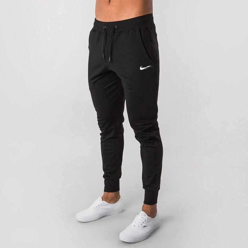 Новинка 2021, модные мужские тренировочные штаны, длинные брюки, спортивный костюм, тренировочные Джоггеры для фитнеса, спортивные брюки, пов...
