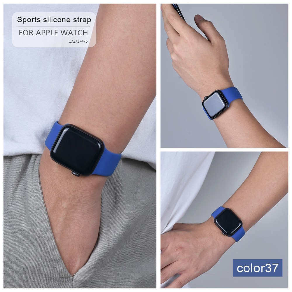 Soft Silicone Band for Apple Watch 117