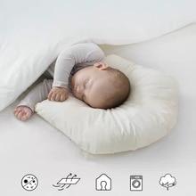 Battilo 100% Cotton New Baby Shaping Pillow Prevent Flat Head Help Sleep Nest Pod Anti Roll Pillows Baby Pillow Healthy Nature