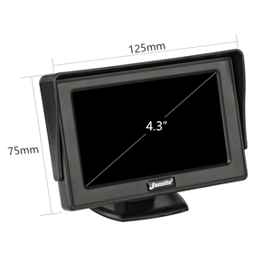 Image 4 - Монитор для автомобиля Jansite, 4,3 дюймовый TFT ЖК дисплей, беспроводная камера s, камера заднего вида, парковочная система, NTSC PAL