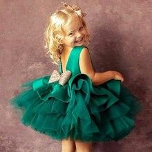 Летнее платье для маленьких девочек, детская кружевная одежда принцессы для новорожденных на 1-й день рождения, костюм на Хэллоуин, платье д...