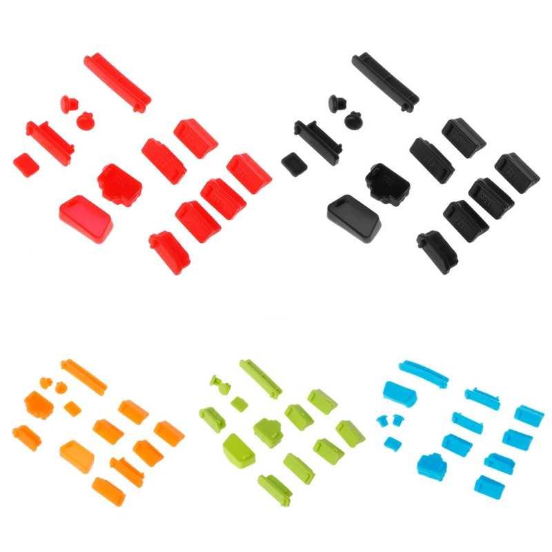 13 ชิ้น/เซ็ตสีสันแล็ปท็อปซิลิโคนป้องกันฝุ่นปลั๊ก Universal ป้องกันฝุ่น