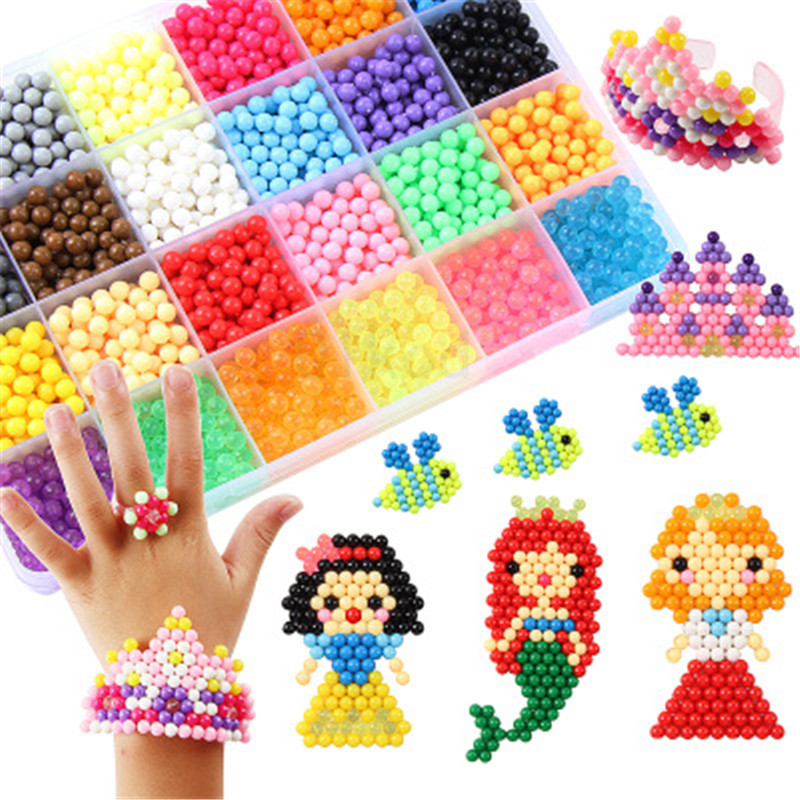 DIY Water Beads Spray Animal Magic Beads Kit Balls Beads Puzzle Game Fun DIY 3D Puzzle Educational Toys For Children Gift