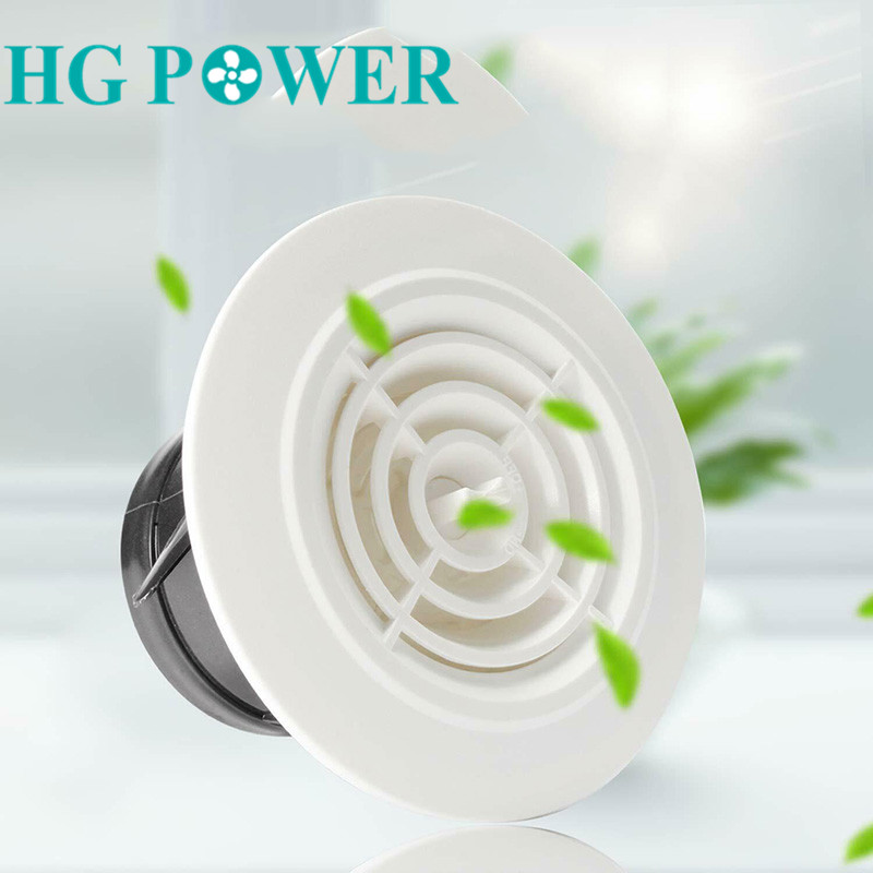 Round Ventilation Grill Covers Ceiling Wall Air Vent Adjustable Louver Extract Valve Diffuser Ducting Cover For Exhaust Hose