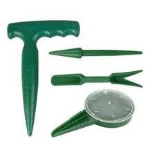 4pcs Plastic Garden Tool Set Seedling Transplanter/Perforator/Seeder/Cutter Sower Planter Starter Garden Seed Disseminators