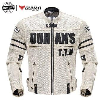 DUHAN, chaqueta de verano para motocicleta, chaqueta de malla transpirable para hombre, chaqueta para Moto, Protector de carrocería de motocicleta, ropa para motocross