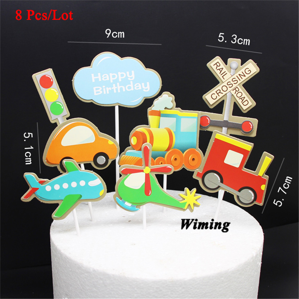 Admirable Happy Birthday Decoration Cupcake Toppers Kids Party Supplies Baby Funny Birthday Cards Online Hendilapandamsfinfo