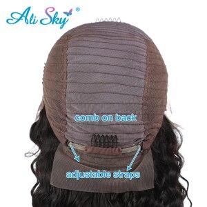 Image 5 - 정면 레이스와 페루 딥 웨이브 가발 흑인 여성을위한 전면 인간의 머리 가발 레미 헤어 곱슬 인간의 머리 가발 hd 레이스 정면