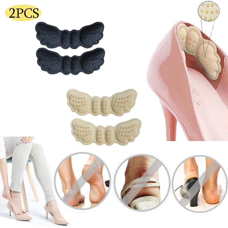 2Pcs Anti-wear Heel Liner Pain Heel Insoles Heel Shoes Pads Stickers For Heels Length Shoe Heel Pad Foot Care  Heel Pads