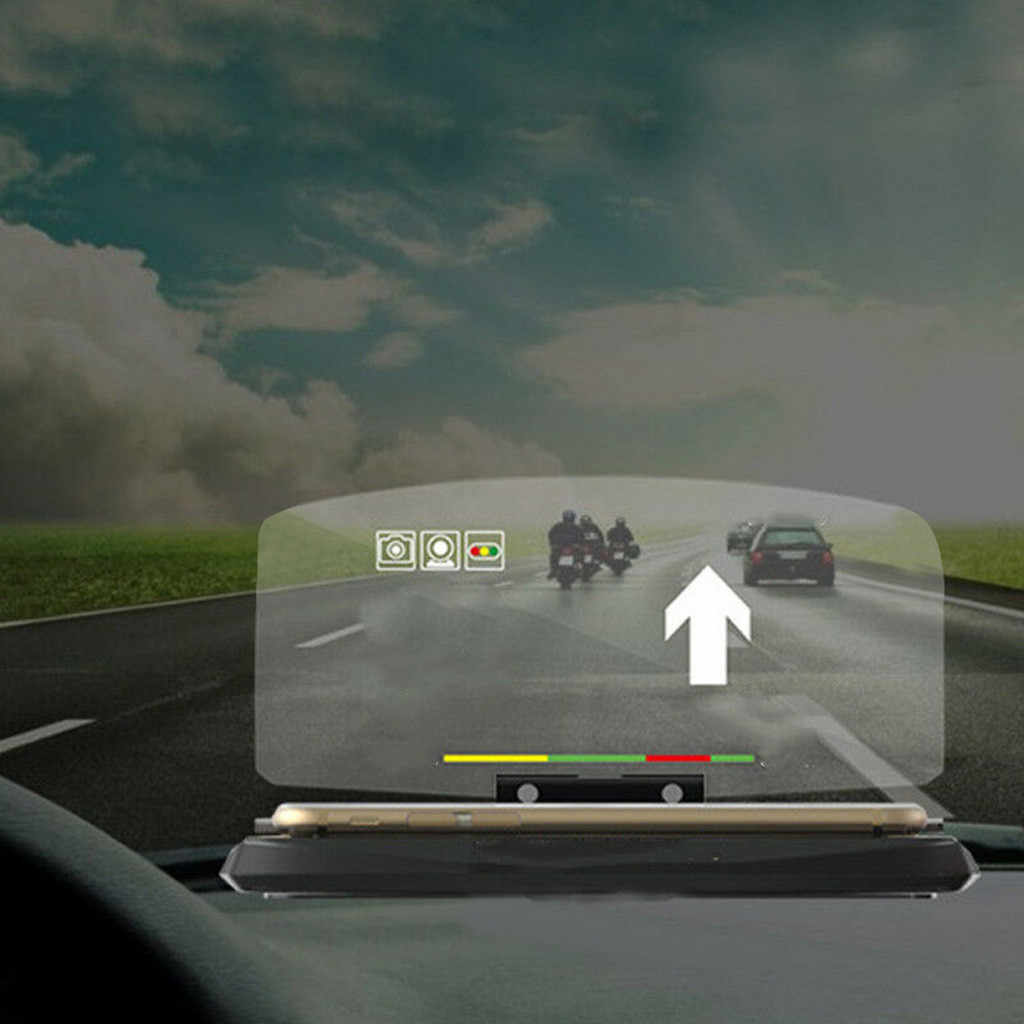 Universal  Car HUD Head Up Display Projector Phone Navigation Smartphone Holder GPS HUD Display Phone Holder GPS Projector