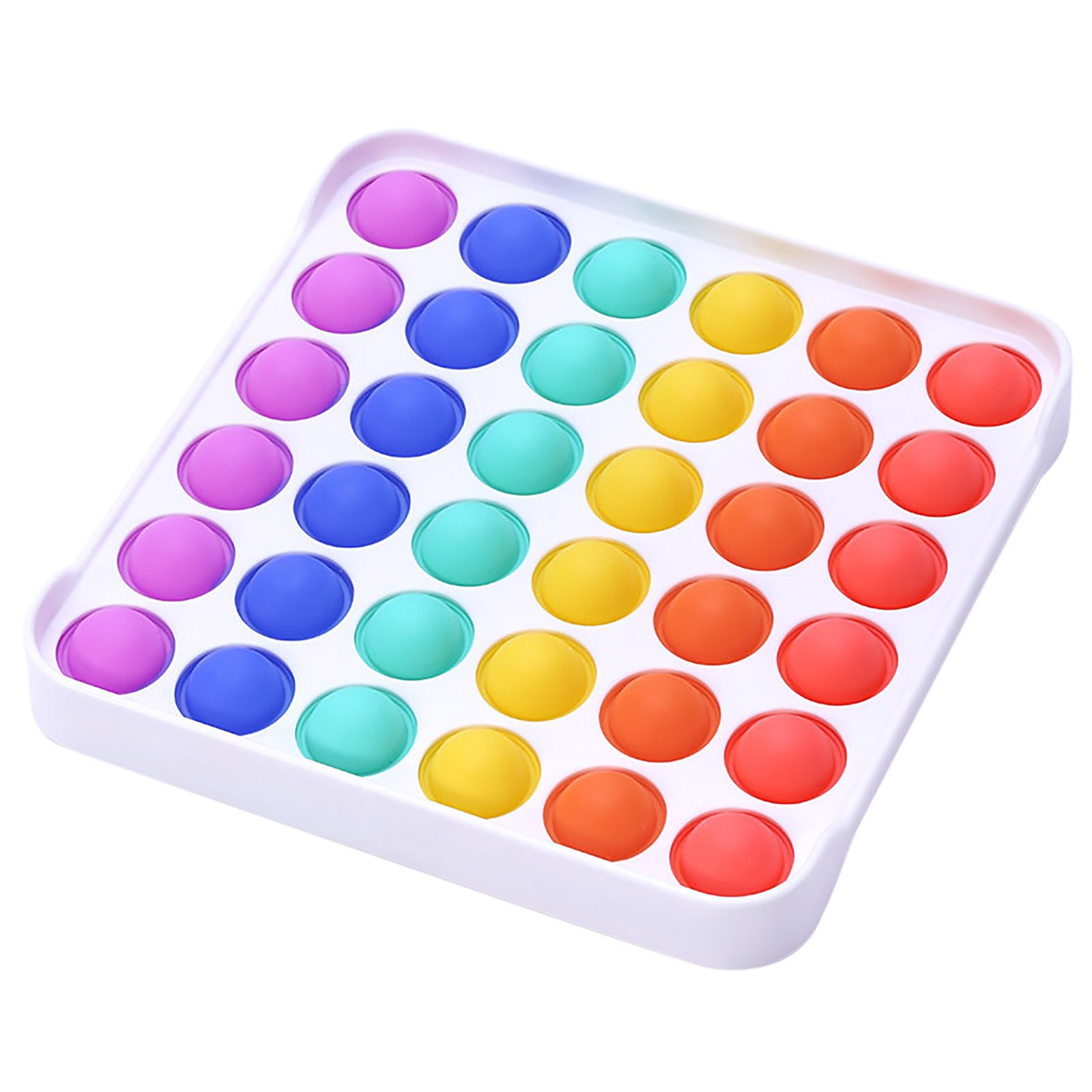 Fidget-Sensory-Toy Game-Stress Bubble Pops Squishy-Pops Special Needs Rainbow-Push Relief img2