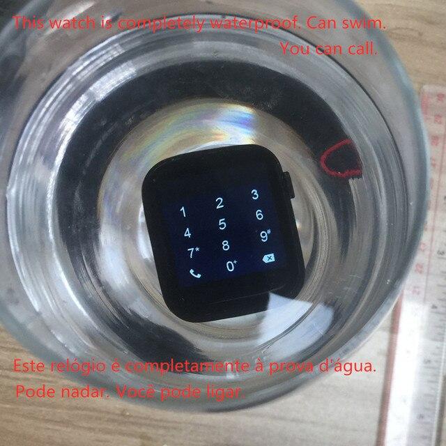 IWO 12 smartwatch 44mm w pełni dotykowy tętno IP68 wodoodporna Bluetooth Call muzyka opaska monitorująca aktywność fizyczną dla IOS Android PK iwo 8 9 10